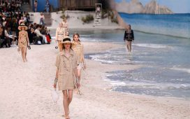 chanel beach runway