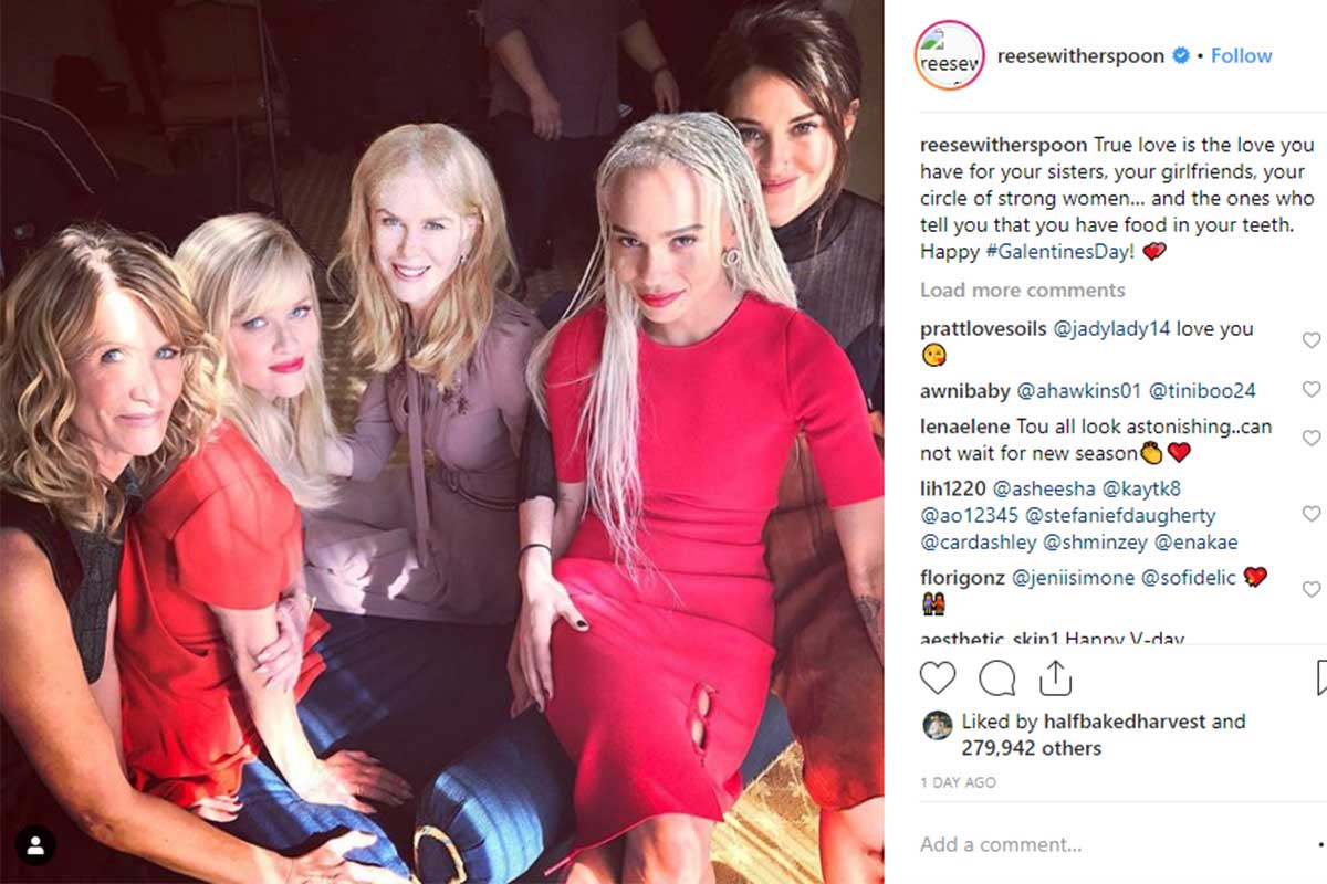Reese Witherspoon Galentine's post